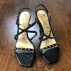 SAM EDELMAN Lennox Strappy Studded Sandal Heels B